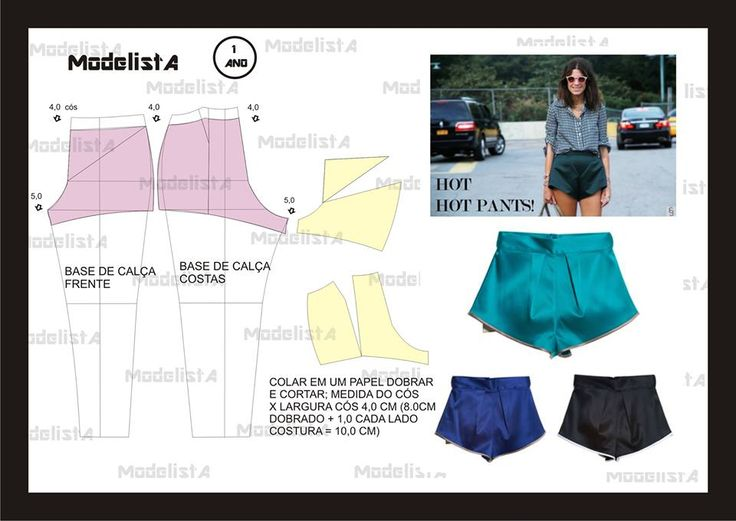 Шорты пижама женские выкройка