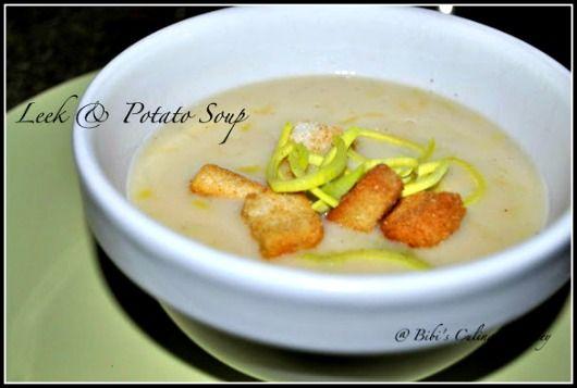 Leek & Potato Soup #soup #healthy #vegetarian #leeksoup #potato