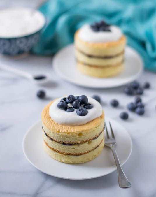 ... Buttermilk Chiffon Cake With Blueberry Curd and Buttermilk Whipped
