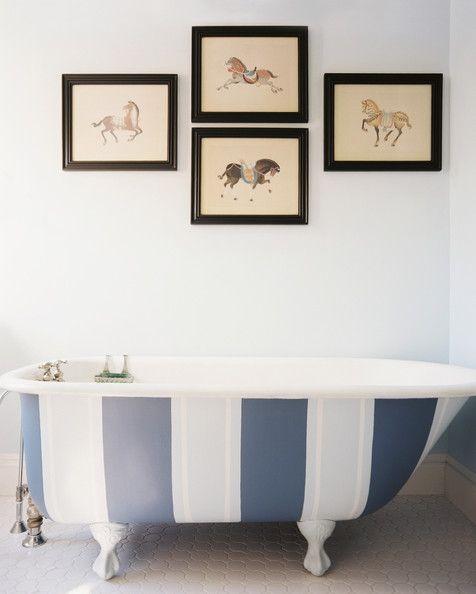 Striped bathtub.