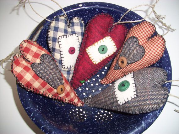 Handmade primitive rustic country christmas by for Homemade country christmas ornaments