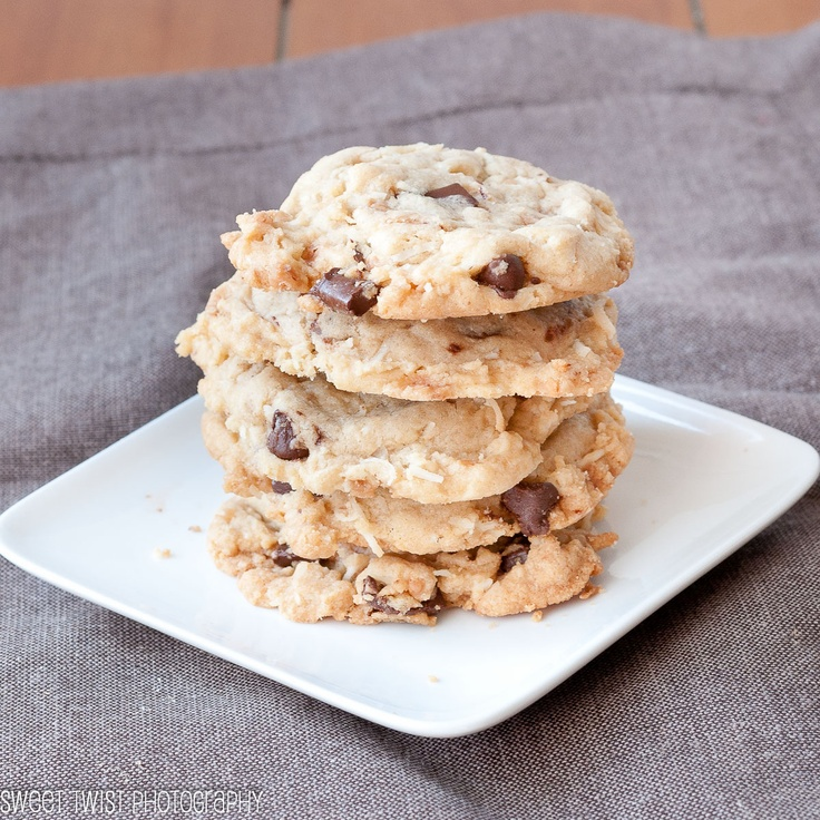 Chocolate Chip Cookies with Toffee Bits and Coconut
