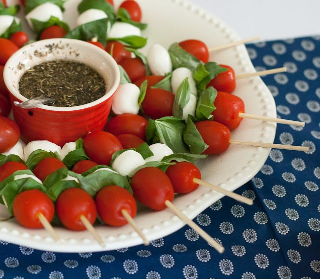 Grubarazzi: Caprese Salad Skewers | : Best Vegetarian Recipes ...
