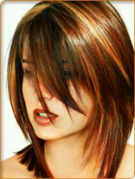 Images Of Lowlights For Redheads With Medium Length Hair | Dark Brown ...