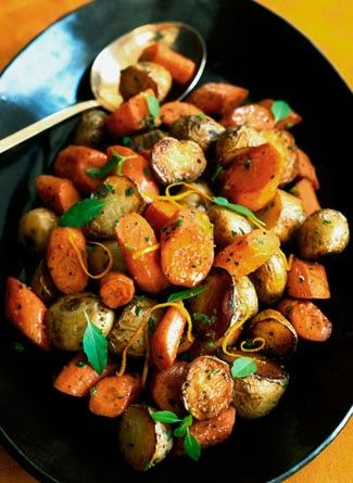 Roasted Potatoes and Carrots with Citrus