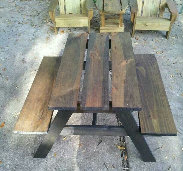 Two Tone Toddler Picnic Table By Or Custom Creations Https