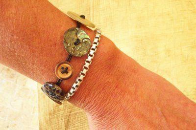 Hope Studios: Button Bracelet Tutorial