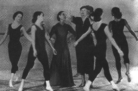 Helen Keller dances with Martha Graham, c. 1954. Photo credit: American Foundation for the Blind.