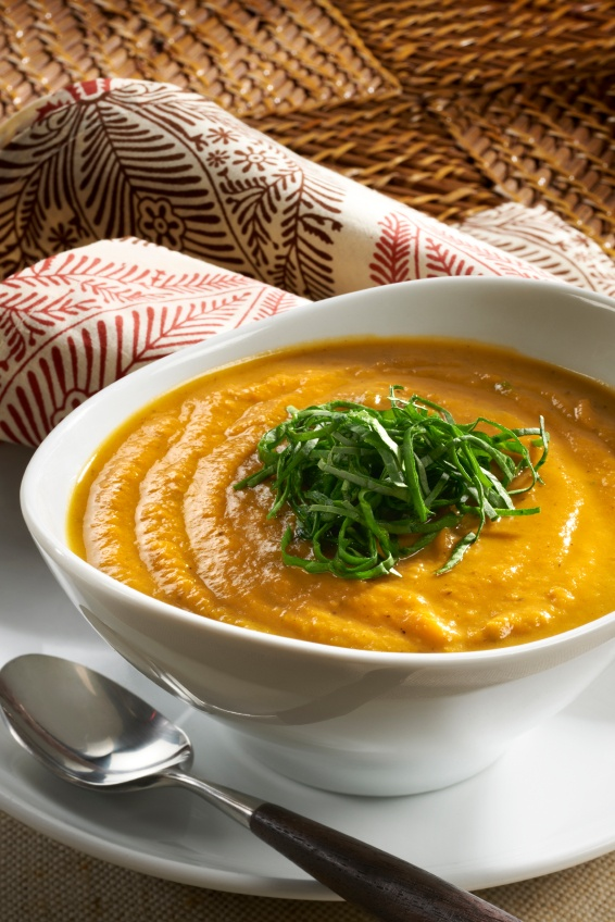 Butternut Squash Curry Soup -- both J and B liked the tastes of this I ...