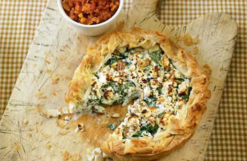 Feta and spinach pie | Food - Vegetable tarts/pies | Pinterest