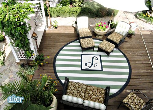 Painted Outdoor Rug