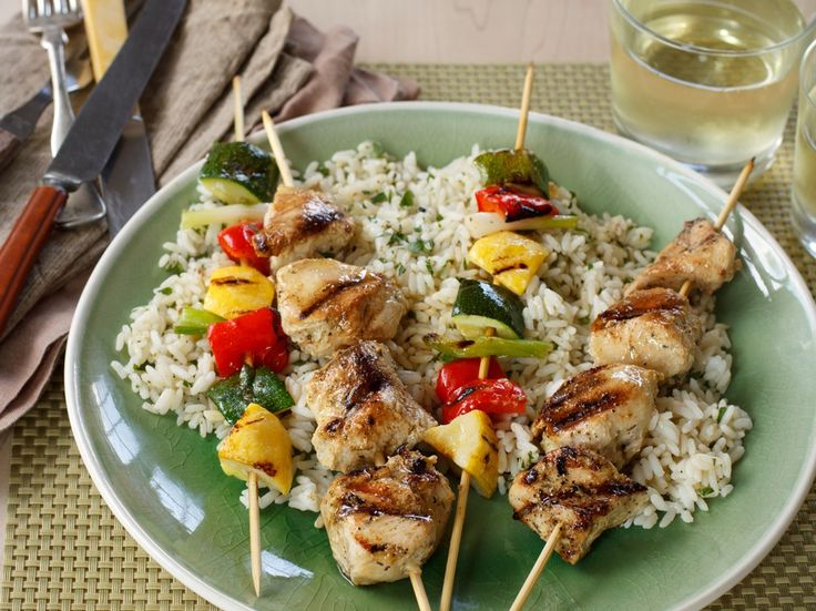 Grilled Chicken & Vegetable Kabobs! #grilling #recipe #kabob # ...