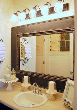 framed existing bathroom mirror for the home pinterest