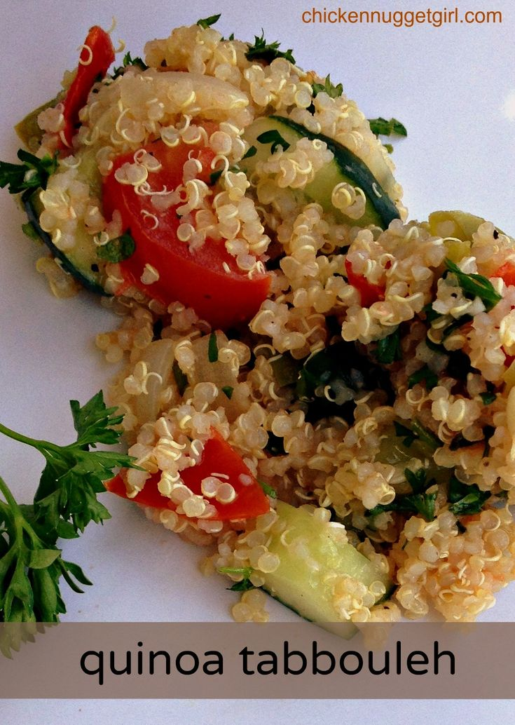quinoa tabbouleh | Chicken Nugget Girl | Pinterest