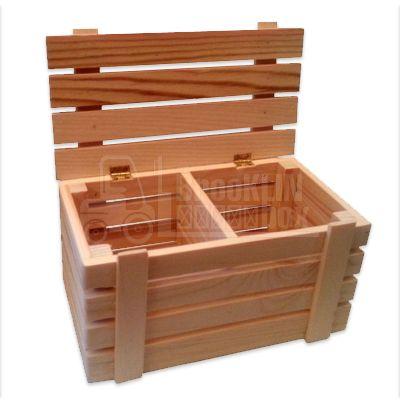 Деревянный ящик с крышкой