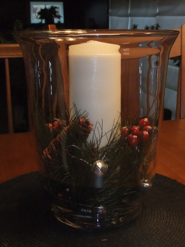 Easy to make christmas table centerpiece holiday