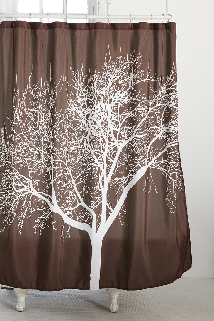 ansel adams esque tree shower curtain