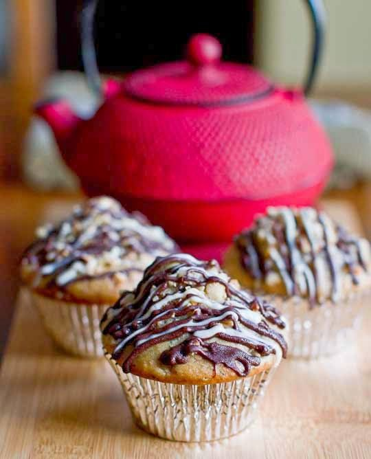 SPOON: Hazelnut, Black Tea, and Pear Muffins