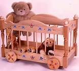 Wooden circus wagon toy box with canvas top - Looks somewhat similar ...