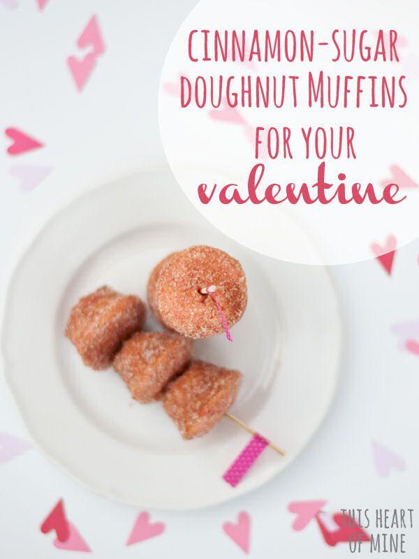 Cinnamon-Sugar Doughnut Muffins for Your Valentines