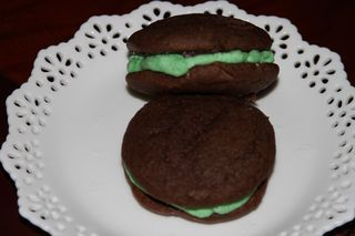Whoopie Pies with Mint Filling and Chocolate Ganache. The moment I saw ...