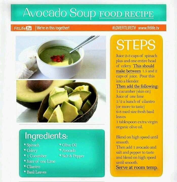 Avocado soup | Yummy | Pinterest