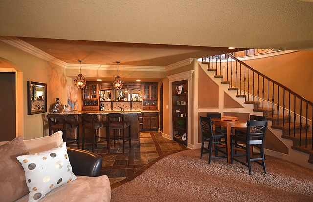 love this basement beautiful basements pinterest