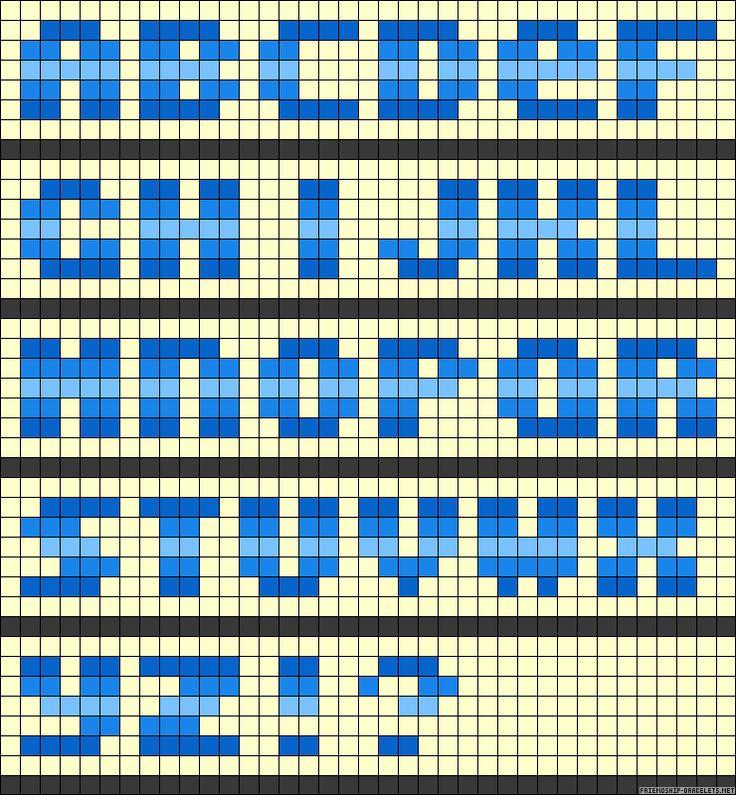 ABC perler bead pattern | crafts | Pinterest