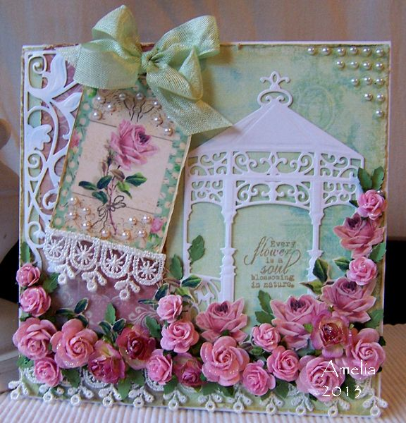 rose garden card by amelia stamped for the occasion