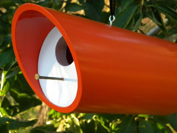 Orange birdie bungalow modern round pvc pipe and wood for How to make pvc pipe birds