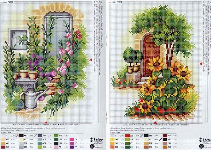 Дом с садом схема вышивки 29
