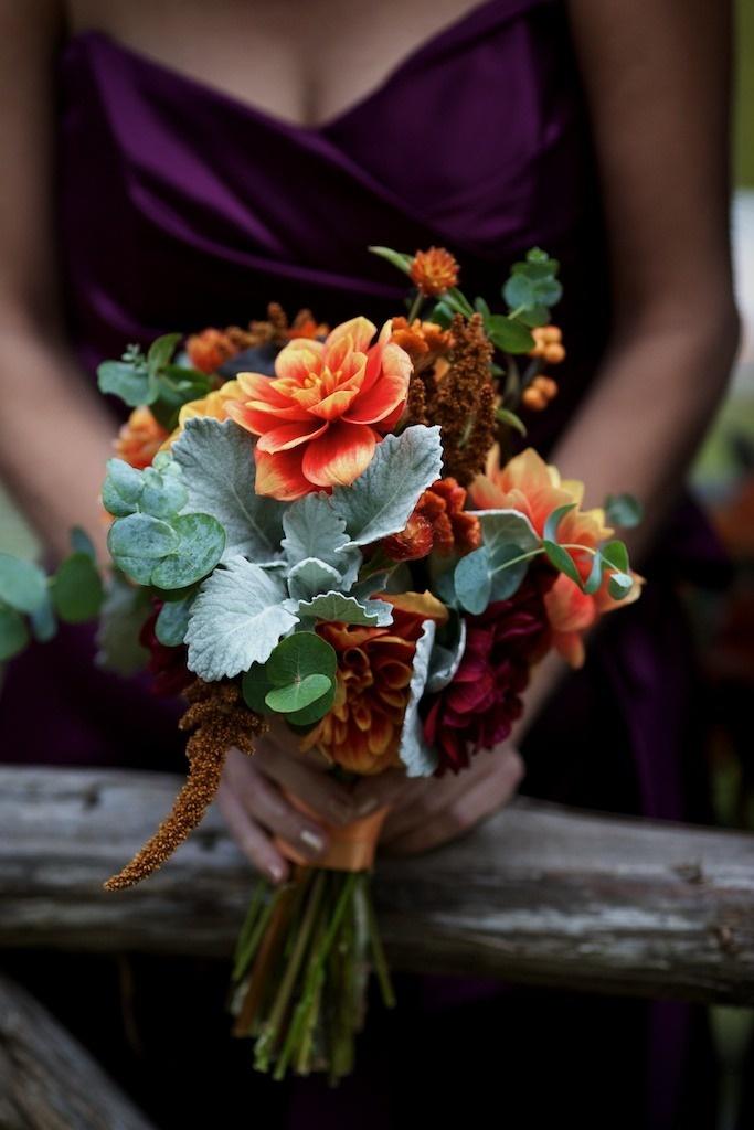 Fall Wedding Bouquets Bridesmaids : Fall bridesmaids bouquets wedding bells