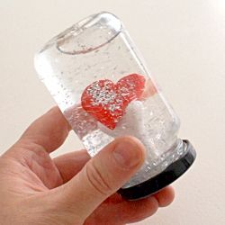 Make your own small world in a glass jar with this great snowglobe tutorial :)