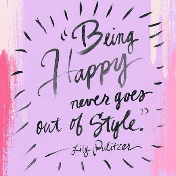 Lily Pulitzer quote #Happy