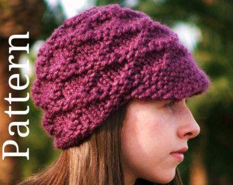 knit hat patterns brim - Google Search Feeling Crafty Pinterest