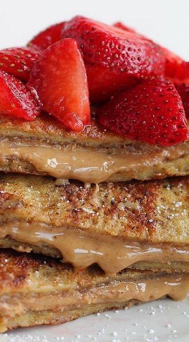 Peanut Butter Stuffed French Toast | Breakfast to Brunch II | Pintere ...