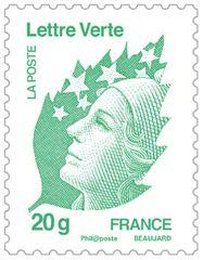 Timbre Marianne Lettre Verte 20g TVP