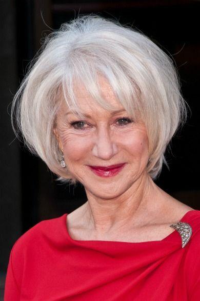 Прическа с седыми волосами для пожилой женщины7