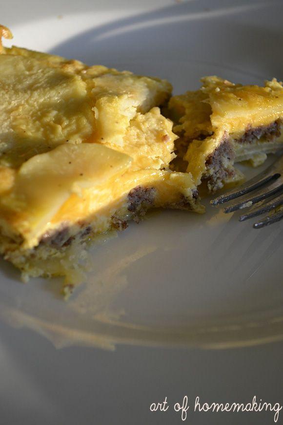 The Art of Homemaking: Sausage and Potato Frittata