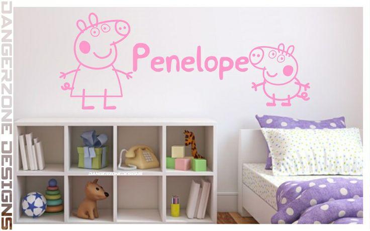 Peppa Pig Wall Art #PeppaPig | ETSY | SHOP - WALL ART | Pinterest