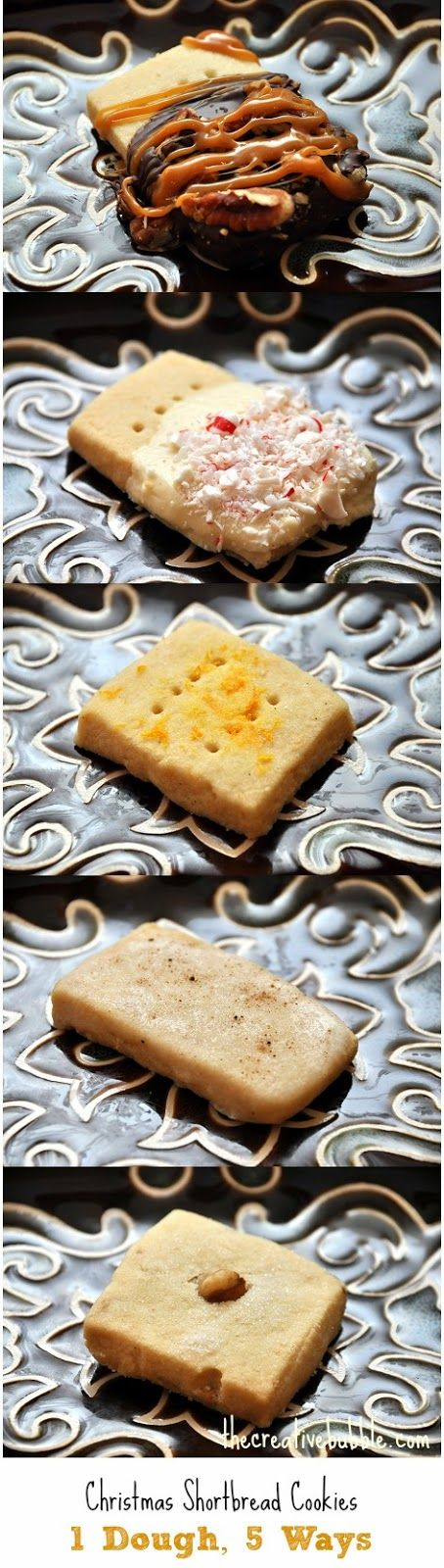 Shortbread Cookies, 1 Dough, 5 Ways: Salty Turtle, White Chocolate ...
