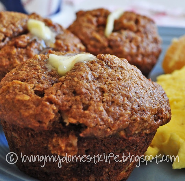 Whole Wheat Morning Glory Muffins. I used butter. Great muffins. The ...