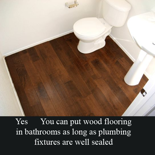 Hardwood floor in bathroom for the home pinterest for Hardwood floor in bathroom