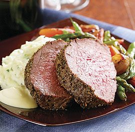 Fennel & Rosemary Beef Tenderloin with Creamy Mustard Sauce | Food and ...