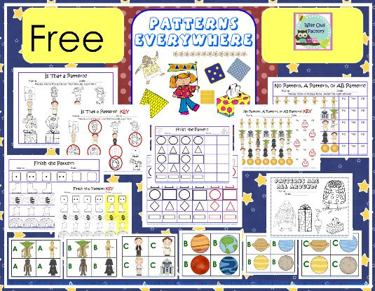 Free Star Wars Math Patterns Printable Pack from Wise Owl Factory