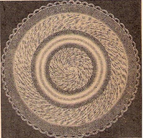 eclectic me: Calico Crochet Rug & Pattern..