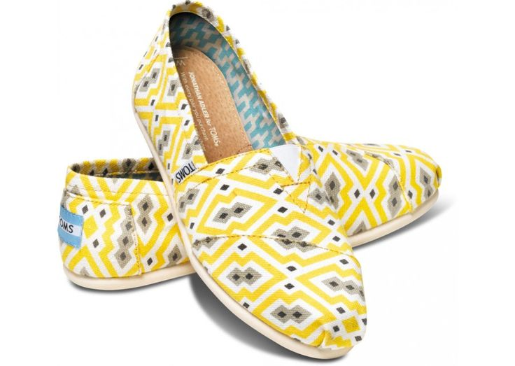 Bright Yellow Jonathan Adler for TOMS Women's Classics hero