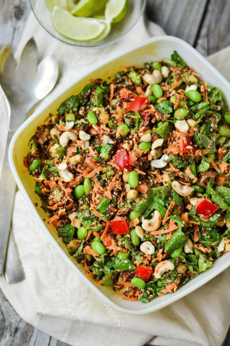 Cashew-Sesame Quinoa Salad **MomMe Marie's note** **Replace water with ...