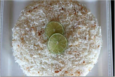for Coconut Cake with Ginger-Lime Curd Filling and Cream Cheese Icing ...
