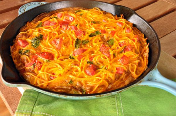 Spaghetti Frittata | Recipes to try | Pinterest